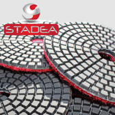 "Stadea Series Standard S 4"" Wet Diamond Polishing Pad Grit 50 100 200 400 800 1500 3000"