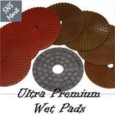 "4"" Diamond Polishing Pad Wet STADEA ULTRA A 8 Pads Set"