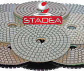 "4"" Diamond Polishing Pads STADEA STD D Wet/Dry Grit 10 30 50 100 150 200 300 400 500 600 800 1000 1500 3000 6000 Buff"