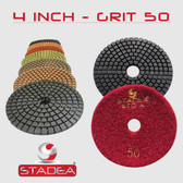 4 Inch Diamond Polishing Pads for Concrete Marble Granite (STADEA STD A)