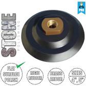 "Stadea Rigid Rubber Velcro Hook and Loop Backing Pad - 3"", 4"", 5"" - Arbor 5/8"" 11 - Series Standard R"