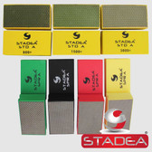Stadea Diamond Hand Pads for Glass Marble Concrete Stone Polishing Sanding, 7 Pcs Set  Series Super A