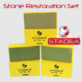 Stadea Marble Tile Restoration Kit Diamond Hand Pads Marble Polishing Restoration Tools Set