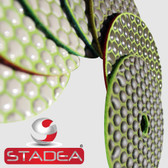Stadea 4 Inch Dry Diamond Sanding Polishing Pad Disc Concrete Stone Marble Granite Polishing Series Standard D, 1 Piece