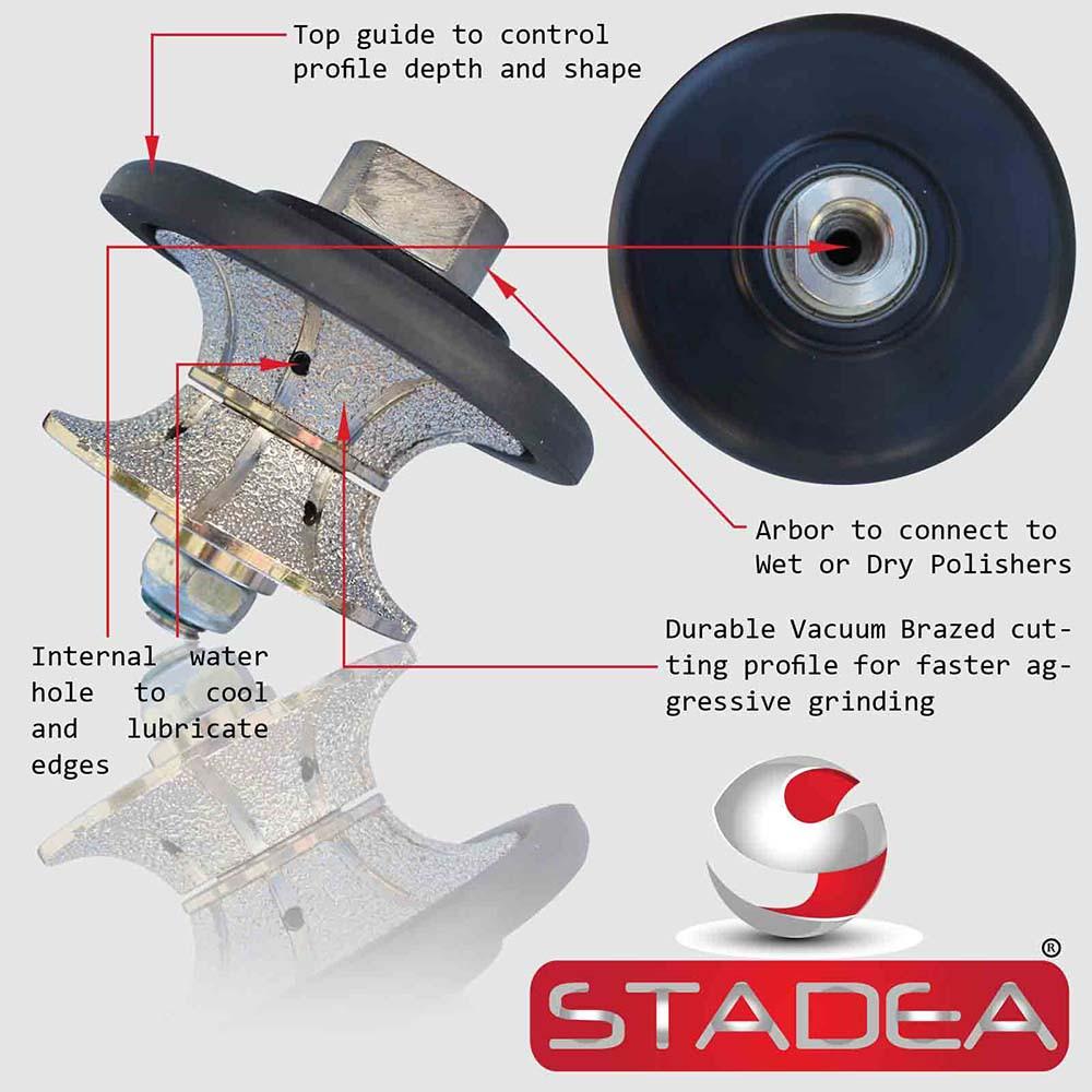 Stadea Diamond Hand Profiler Wheel Full Bullnose Granite