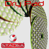 "4"" Diamond Dry Polishing Pads Marble Granite Concrete Stone Glass Polishing Set, by Stadea (Series Standard D)"