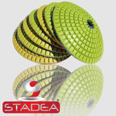 "Stadea Series Standard A 4"" Convex Diamond Polishing Pad Granite Marble Stone Concrete Polishing 1 Piece"