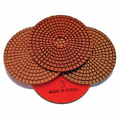 Stadea 3-Step Diamond Polishing Pads Wet for Granite Polishing, Series Ultra G