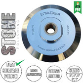"Stadea Rigid Aluminium Hook and Loop Backing Pad - 3"", 4"", 5"", 6"", 7"" - Brass 5/8"" 11 Arbor"