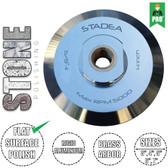 """Stadea Rigid Aluminium Hook and Loop Backing Pad - 3"""", 4"""", 5"""", 6"""", 7"""" - Brass 5/8"""" 11 Arbor"""