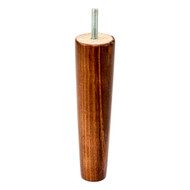 170mm cone sofa leg walnut.