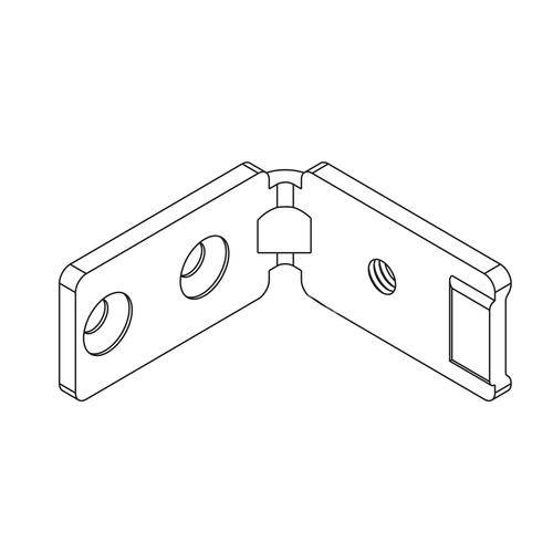 C section profile handle end bracket