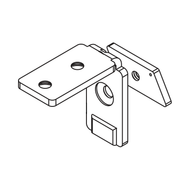 C section profile handle top bracket