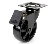 Castor with Brake in Black