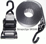 Straps2go Tie Down Ratchet Strap 50mm/6metre S hook