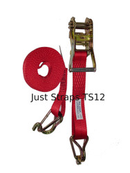 Just Straps Tie Down Ratchet H/Duty 50mm/6m Hook & Keeper