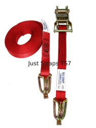 Just Straps Tie Down Ratchet H/Duty Hook & Keeper 25mm / 5.5metre