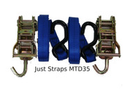 Just Straps Transom Heavy Duty Ratchet Hook to Hook 1.2metre