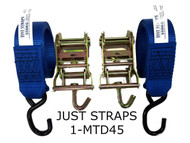 Just Straps Medium Duty Ratchet Hook to Hook 1.5 metre