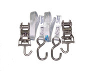 Just Straps® Transom Stainless Steel H/Duty Ratchet Hook to Hook 1.5metre