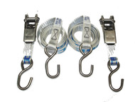 Just Straps Stainless Steel Light Duty Ratchet Hook to Hook 1.5metre