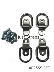 Just Straps Tie Downs Stainless Steel Anchor Plates Set of 4