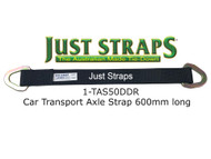 Just Straps Car Transport Axle Strap c/w Steel D Plates