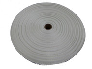 25 MM Polyester Webbing 50 Metre roll White
