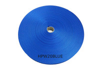 20 MM Polyester Webbing 50 Metre roll Blue