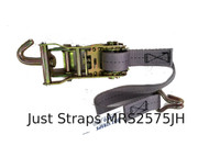 Just Straps 25mm Marquee Ratchet Strap 750mm c/w J Hook