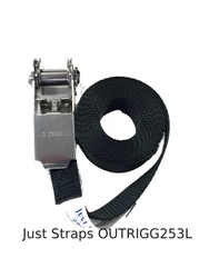 Just Straps 25mm Outrigger Endless Ratchet L/Duty S/Steel 3metre