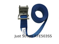 Just Straps 50mm Endless Stainless Steel Ratchet 3metre