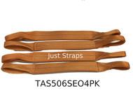 Just Straps® Car Transport Axle Strap Orange c/w Sewn Eyes 4 Pack