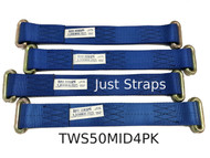 Just Straps Car Transport Wheel strap (middle) section 4 Pack