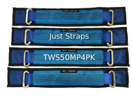 Just Straps Car Transport Wheel Strap middle & pad 4 Pack