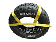 Just Straps Vehicle Transport Wheel Strap Adjustable 6 metre