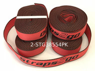 38MM Straps2go Polyester Webbing 5.5 Metre Red 4PK