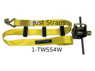Just Straps Car Transport Inline Strap 4 metre c/w Mini Winch
