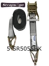 Straps2Go Tie Down Ratchet H/Duty 50mm/5.5m Hook & Keeper
