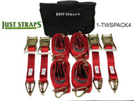 Just Straps® Car Transport Wheel Strap 4 pack Limited Edition 5 metre