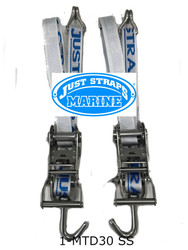 Just Straps® Transom Stainless Steel H/Duty Ratchet 600mm Double Ply
