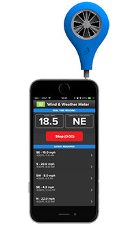 WeatherFlow wind meter.  Great measuring wind and weather.  Simple and easy to use.