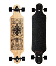 "Atom 40"" Bamboo Drop-Through Longboard - Tiki"