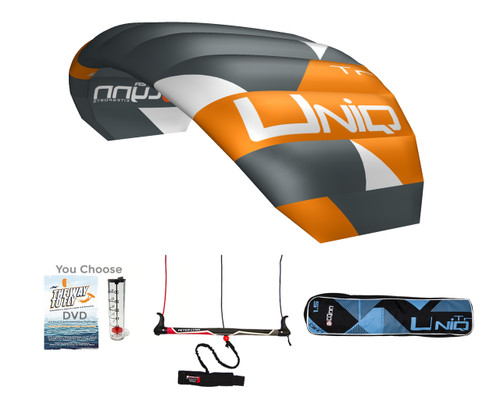 Peter Lynn Unique Tr 2.5m - Single Skin 3-Line Trainer Kite for Kiteboarding, Snowkiting, Landboarding, and Buggy