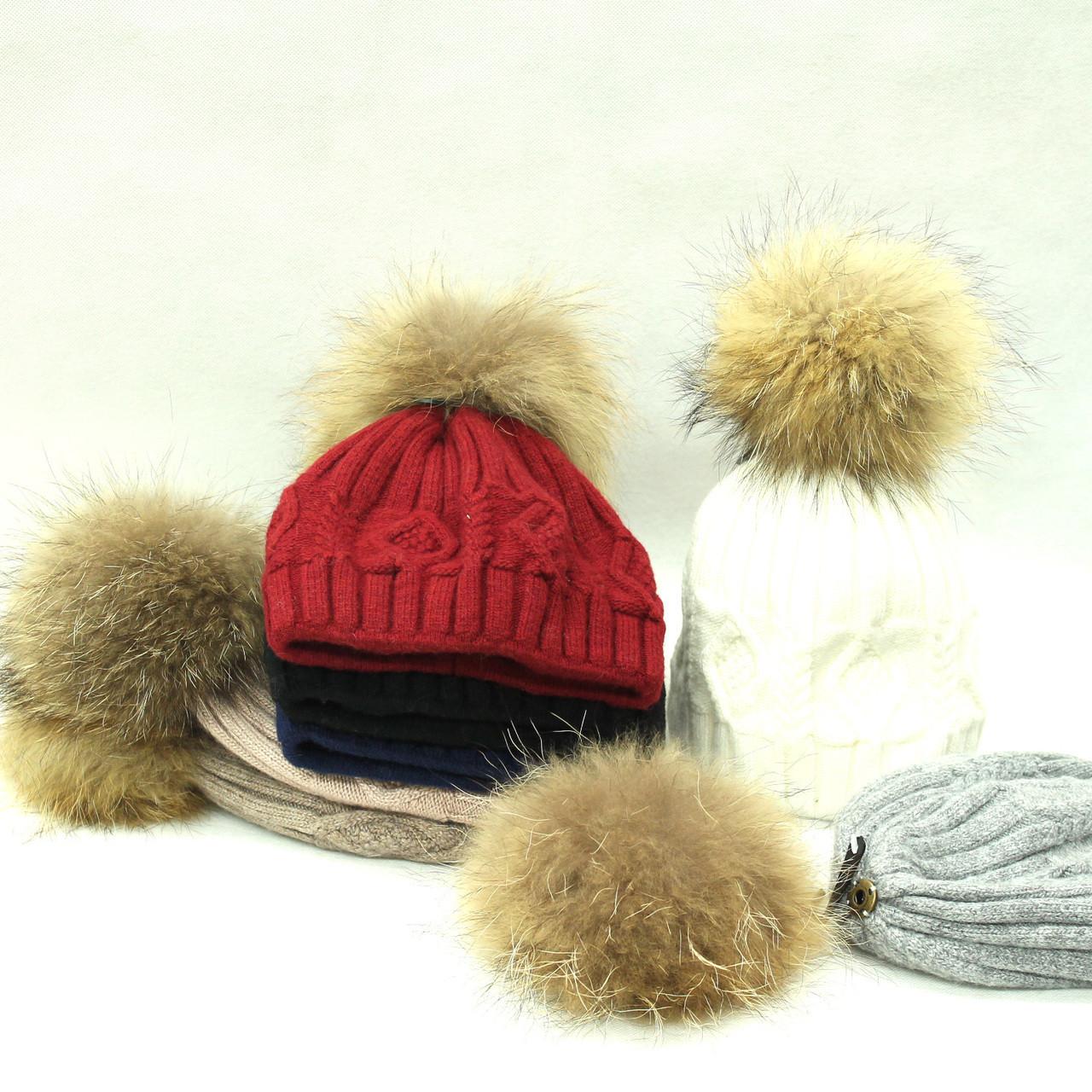 d12106ef6c926 Lady s Real Raccoon Fur Pom Pom Hat (Removable )H212 - Polyfashion Trading  Ltd
