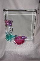 "Art Glass Tulip Drip Frame 8"" x 10"" by Berni Enterprises"