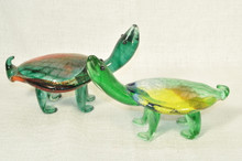 Art Glass Sea Turtle Figurine by Berni Enterprises