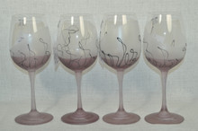 Ion Tamaian Art Glass Large Goblets Set/4