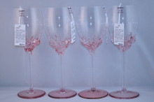 Ion Tamaian Pink Wine Glass Set/4