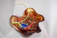VM005 - Large Art Glass Collage, Organic Bowl